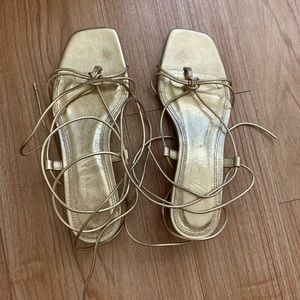 Zara sandal leather